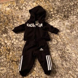 Adidas black 6 month outfit baby boy